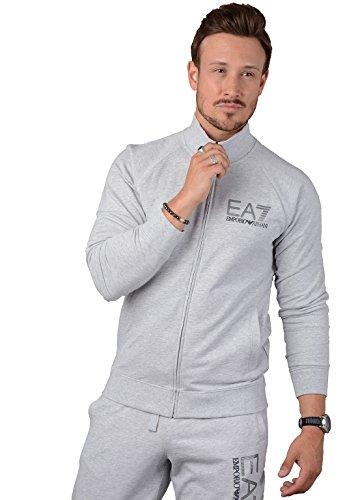 Ea7 Train Visibility Cotton Zip Sweat XXL GREY Polo Track Jacket