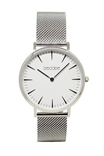 DECADE Damen Armbanduhr silber D101 decadewatch Uhr