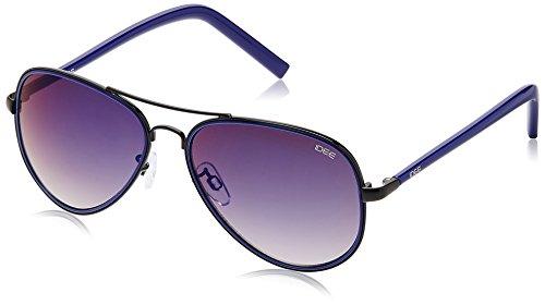 IDEE Aviator Sunglasses (IDS1957C4SG|56|Black and Blue ) image