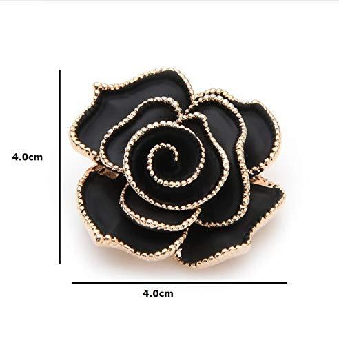 X-Z Schwarzer Emaille Rose Blume Brosche Pins für Frauen Pflanzenbroschen 2019 Neue Liebhaber Hochzeit Brosche Bouquet Geschenk