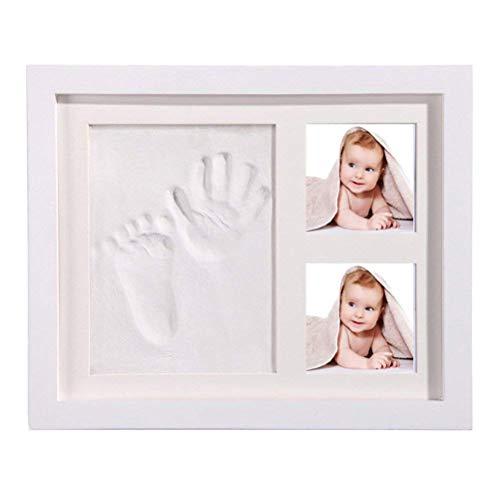 5 Tier-box Locker (StillCool Baby Handabdruck und Fußabdruck DIY Bilderrahmen Babyparty Geschenk sicheren elegantem Weiß aus Echtholz)