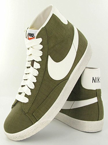 Nike Blazer Mid Premium Vintage Canvas - Squadron Verde/Nero, Taglia 41 Squadron Verde/Nero