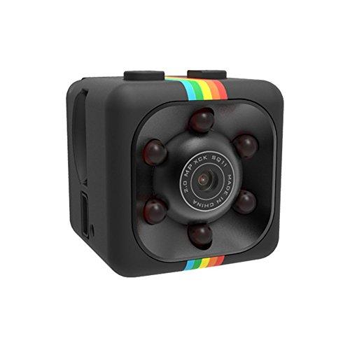 Mini Kamera,SENSU 360 Grad FOV Nachtsicht 1080P HD DVR Camcorder Mini Auto Versteckte DV DVR Kamera Spy Dash Cam IR C Unterstützung TF-Karte (Schwarz)