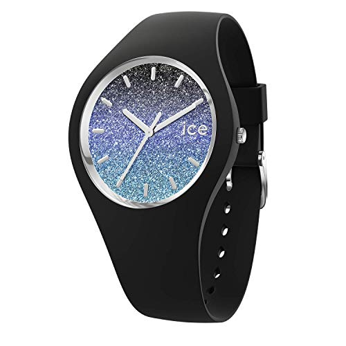 Ice-Watch - Ice lo Milky way - Schwarze Damenuhr mit Silikonarmband - 015606 (Small)
