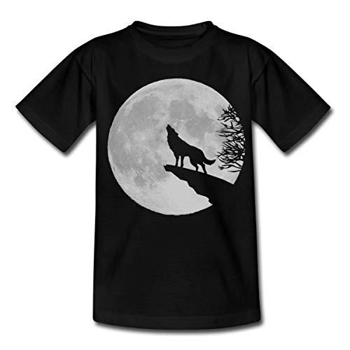 r Wolf Teenager T-Shirt, 152/164 (12-14 Jahre), Schwarz ()