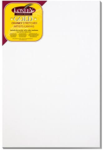 Loxley Gold 36 x 24-inch 91 x 61 cm 37mm Chunky Deep Edge Artist Quality Stretched Canvas Primed