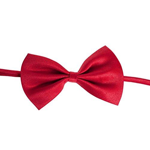 (Unbekannt Per Pet Fliege Verstellbare Halskette Für Katze Kleine Und Mittlere Große Größe Hund Für Hochzeit Weihnachten Fotografie-Rot,1pc)