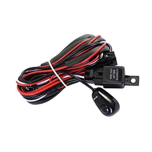 Vosarea - Set di fasci di Cavi per Auto, Altoparlante, LED, Fusibile, relè, Interruttore di accensione/spegnimento relè, Universale, Accessori per Barra Luminos