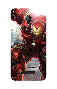 Cell Planet's High Quality Designer Mobile Back Cover for Micromax Q380 on Comics/Cartoons/Superheroes theme - ht-mmx_q380-superman_011