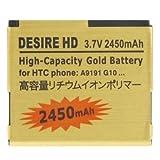 SPAREPARTS Pièces de Rechange pour téléphone Batterie Or Haute capacité 2450mAh...