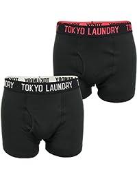 Tokyo Laundry Mens Boxer Short/Trunks by Pellipar 2' (Black, 2-Pack)