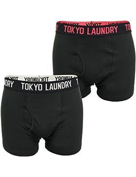 Tokyo Laundry - Boxer - 'Pellipar 2' - Uomo (2-Pk) (Tomoto-Grey) XL