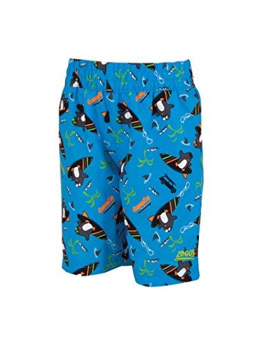 Zoggs Jungen Badeshorts Surfen Pinguin Watershorts Schwimmen Anzug Blue/Multi-Colour