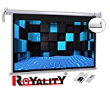 Royality Premium Motorised Projector Screen with Remote Control 6ft (width) x 4ft (Height) - 84'' Diagonal 4:3 Supported 4K, 3D full HD