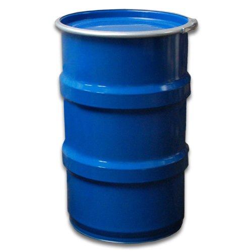 TAMBOR DE METAL  TONEL METALICO  AZUL  CON TAPA 120 L (23022)