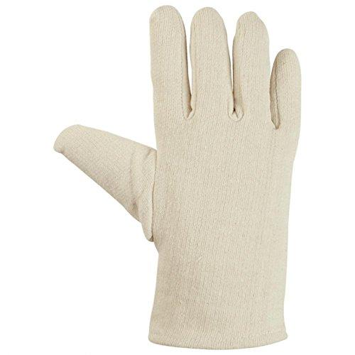 Handschuhe Baumwollhandschuhe Textilhandschuh Jersey Basic natur-grau - Größe 10 (Natur-jersey Handschuh)