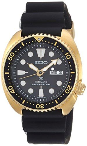 Seiko De los Hombres Prospex automática Reloj Casual de Silicona y Acero Inoxidable, Color: Negro (Modelo: srpc44)