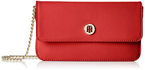Tommy Hilfiger Damen Honey Mini Crossover Umhängetasche, Rot (Tommy Red), 3x13x22.5 cm