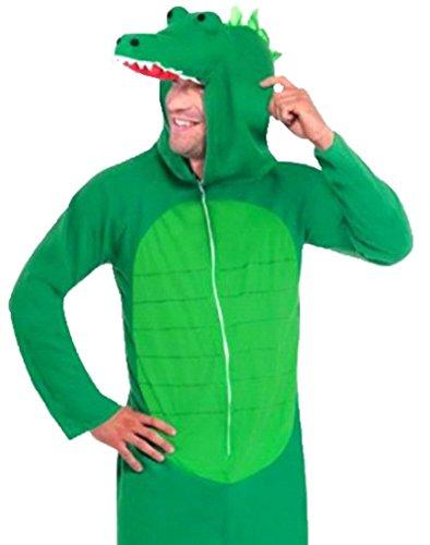 Karnevalsbud - Herren Karneval Kostüm Krokodil Suit Onesie, M, (Iron Suit Halloween Man)