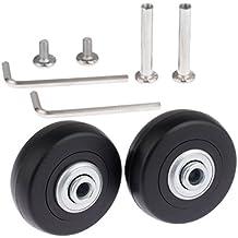Set de 2 ruedas de repuesto para maleta, 50 x 18 mm, con ejes