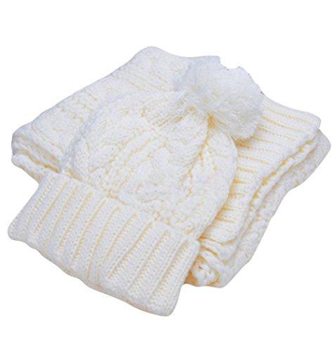 Da.WA in autunno inverno sciarpa e cappello set per le donne white