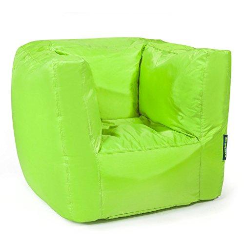 Pushbag Sitzsack Sessel Cube Oxford Indoor Lounge Loungemöbel moderner Look Möbel (Lime)