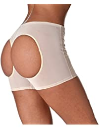 MOONIGHT mujeres Control talla para mujer Butt lifter cintura Cincher Magic Boy Short