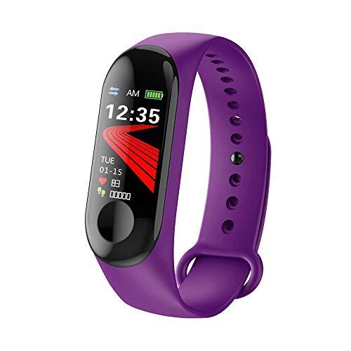 BZLine Bluetooth Smartwatch, Smart Watch Uhr Intelligente Armbanduhr Fitness Tracker Armband Sport Uhr mit Farbe Bildschirm Blutdruck/Pulsmesser Schrittzähler für Kinder Frauen Männer (Lila)