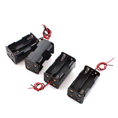 Preisvergleich Produktbild sourcingmap® 4 Stücke Kabel Connector Batteriehalter Kasten Box für 4 x AA Batterie