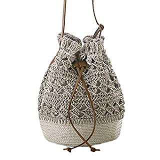 Milkate The Crocheted Woven Bag Japanese Knit Bag Women's Backpack hui