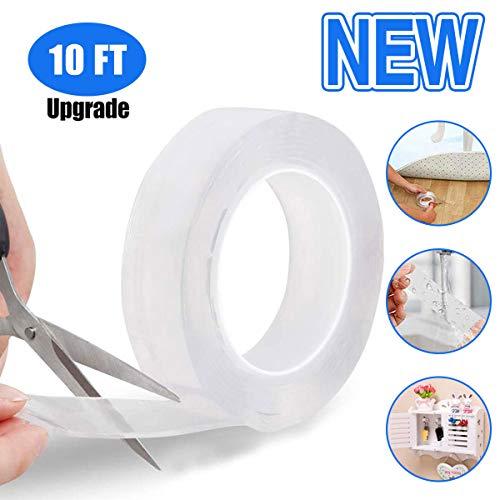 Multifunzione nano tape nastro biadesivo tape, trasparente nano nessuna traccia può essere lavato nastro adesivo può essere riutilizzato , anti scivolo pads utensili da cucina (3m )