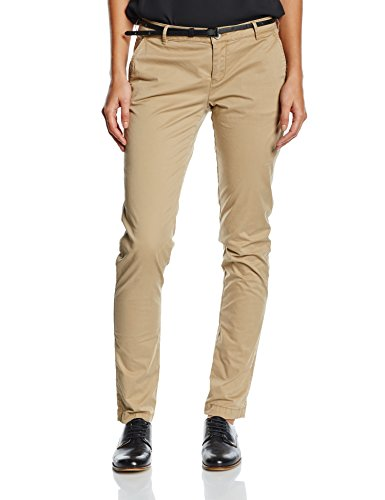 Scotch & Soda Maison Damen Chino Hosen Medium weight pima cotton stretch, sold with belt, Gr. W27/L34, Beige (Sand 06) (Pima-cotton-hose)