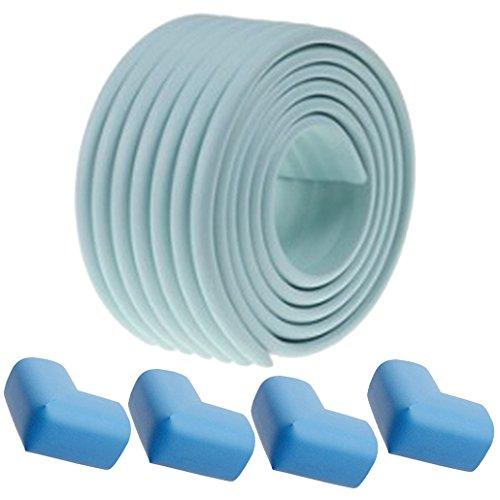 DEHANG, 2 m, rotolo di gommapiuma anti choc per la sicurezza del bebè e di protezione per angoli e spigoli per garantire la bambini, morbido e flessibile, 4 angoli, colori a scelta