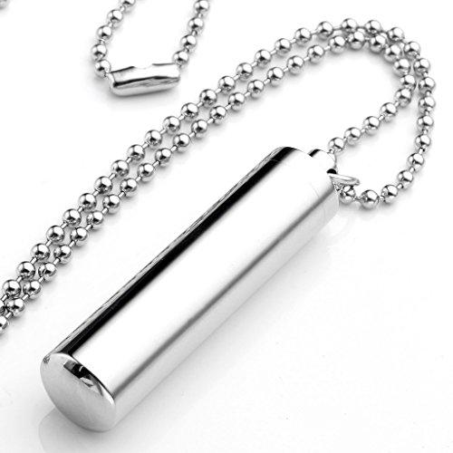 JOVIVI Memorial Anhänger Halskette Edelstahl Pillendose Kapsel Pillen Box Anhänger Schlüsselanhänger Freundschaftsketten (Partner)