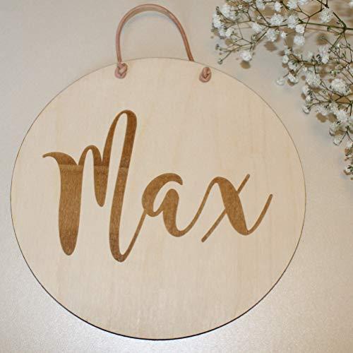 Namensschild Holzschild, personalisierte Baby Geschenke Wandschild Schild aus Holz mit Geburtsdaten, Babyzimmer, Kinderzimmer, ideales Geschenk für Mädchen oder Junge, Taufgeschenk Geburtstagsgeschenk