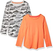 Amazon Essentials Girls' 2-Pack Long-Sleeve Tees Niñas, Pack