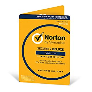 Norton Security Deluxe 2019 | 5 Devices | 1 Year | Antivirus Included | PC/Mac/iOS/Android | Activation Code by Post (B016A2LTCE) | Amazon Products