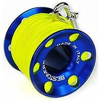 Scuba Divers ml0088, Angelrolle Unisex–Erwachsene, Blau, 45Meter