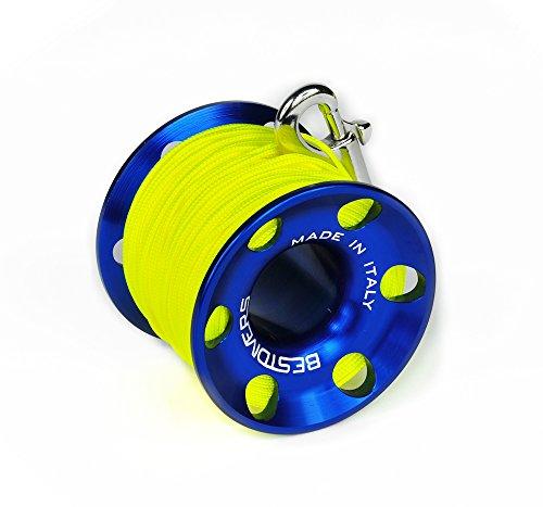Best Scuba Divers ml0088, Angelrolle Unisex–Erwachsene, Blau, 45Meter