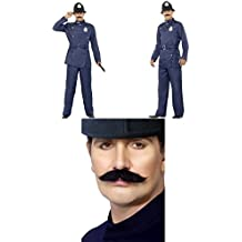 Fancy Dress Four Less Disfraz de policía de Bobby London para adultos, disfraz de oficial