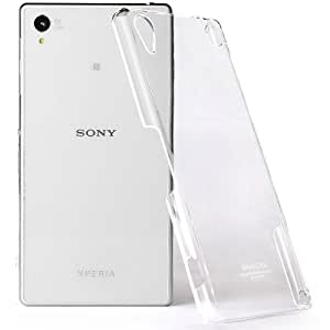 Heartly Imak Crystal Transparent Flip Thin Hard Bumper Back Case Cover For Sony Xperia Z2