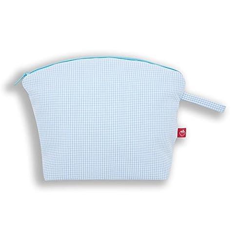 La Fraise Rouge 4251005600597Pascal Trousse de toilette, Vichy, Bleu clair/blanc