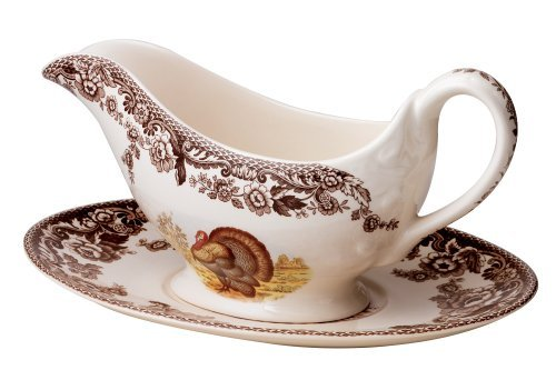Spode Woodland Turkey (Spode Woodland Turkey Sauce Boat and Stand by Spode)