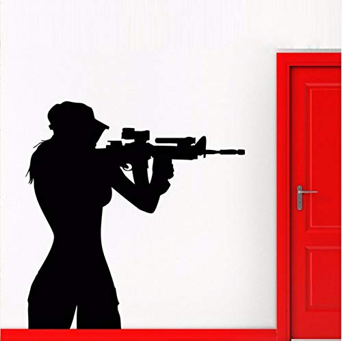 Lvabc Teen Sniper Shooter Army Girl Entfernbare Wandaufkleber Für Wohnzimmer Hintergrund Kunst Decor Vinyl Tapete Aufkleber Poster 42X68 Cm