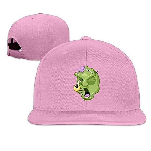Terrible Facial Expression Zombie Hip Hop Baseball Cap Adjustable Flat Brim Hat Outdr Sport Baseball Hat Unisex 295