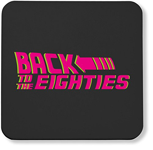 Back to the Eighties, pack of 2 coasters with gloss finish