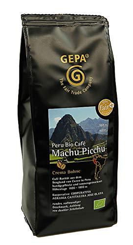 Gepa - Bio Café Machu Picchu Crema Bohnen Espressobohnen Kaffeebohnen Peru - 250g