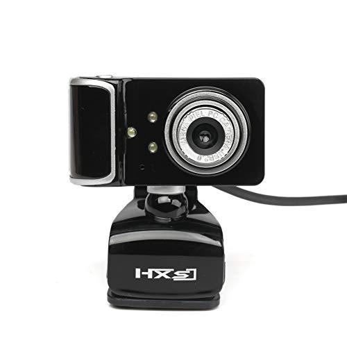 Computerkamera HD 480P Webcam, Full HD Videoanruf und Aufnahme Dual Stereo Audio Stream Gaming mit Mikrofonen Small Agile,Silver Agile Stereo