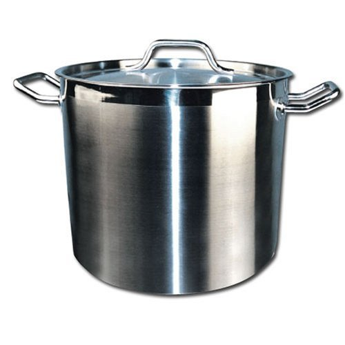Winware Stainless Steel 24 Quart Stock Pot with Cover by Winware 24 Quart Pot