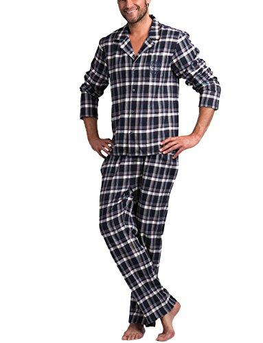 Rossli SAM-PY 043 pigiama, XL, blu scuro - bianco